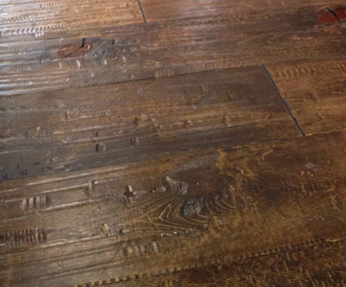 Old Wood Hand Scrapped Wide Planks Hardwood Flooring