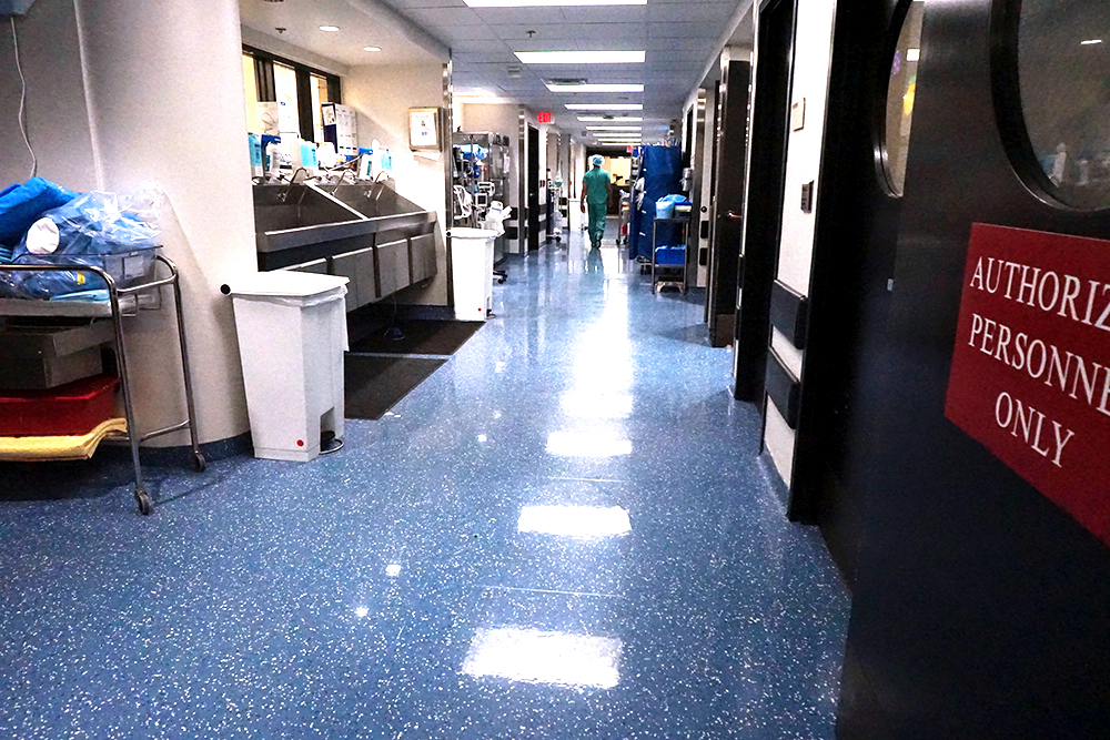 Winnie Palmer Hospital Healthcare Commercial Flooring Yorkshore Texas Granite No Wax