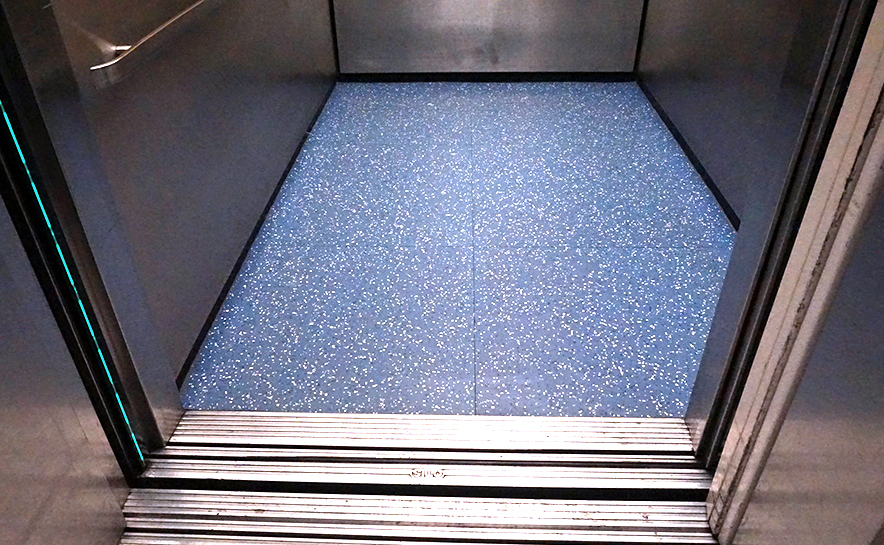 Winnie Palmer Hospital Healthcare Commercial Flooring Yorkshore Texas Granite Elevator