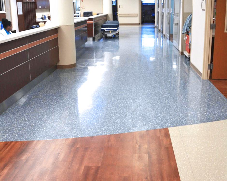 Corridor Hospital Flooring, Hallway Flooring