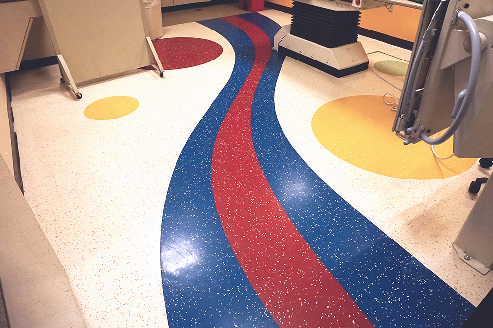 Commercial Hospital Flooring - Colorful Design