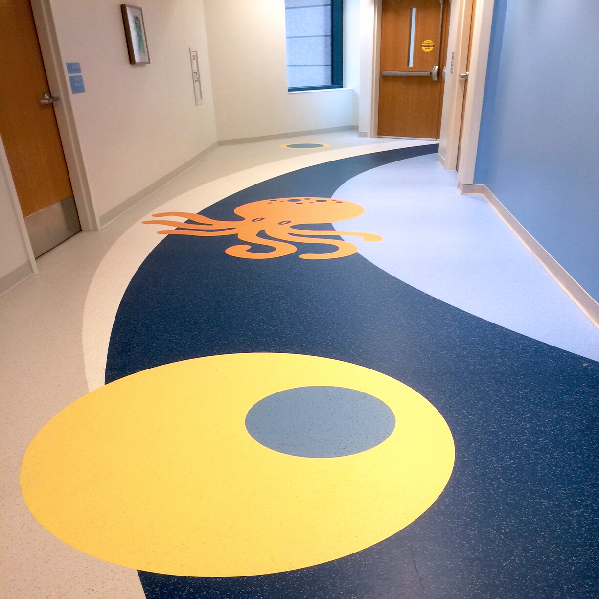 Commercial Healthcare Flooring - Hospital Hallway and Corridors