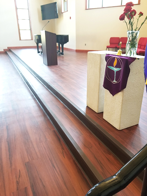 Unitarian Church Lake County Florida Commercial Flooring