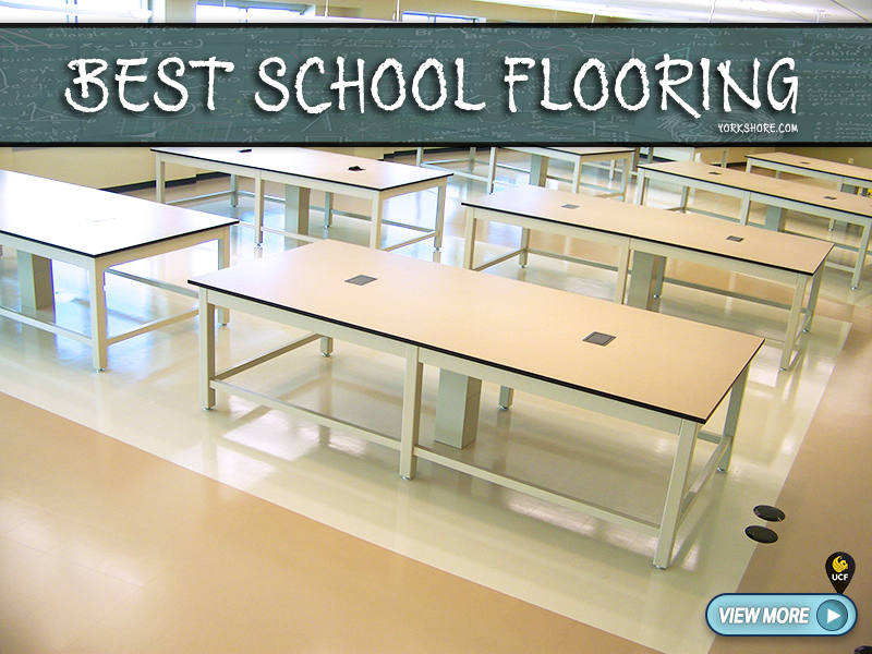 School Flooring - Commercial School Flooring at UCF - Classroom flooring, hallway flooring, gym flooring