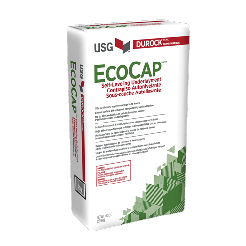 Durock Ecocap self leveling underlayment USG
