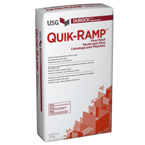 USG Quik-Ramp Floor Patch Durock Floor Prep