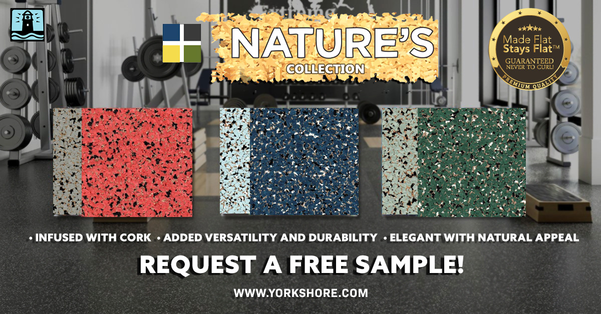 Natures Collection cork infused recyclable rubber commercial flooring dinoflex Yorkshore