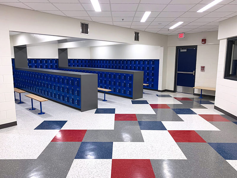 School Flooring - Locker Room