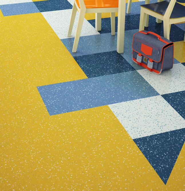 school flooring - commercial vinyl tiles
