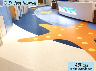 Commercial Hospital Rubber Flooring