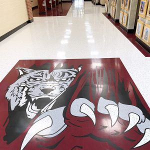solid vinyl school flooring